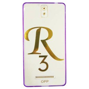 PC/TPU Back Case/Senior Case For OPPO R3 (Violet)