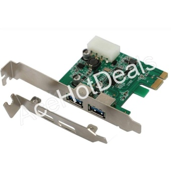 PCI-E Express USB 3.0 2 Port HUB Card Adapter w/ Low ProfileBracket -