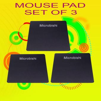 PH-STORE Gaming Office mousepad Set of 3 (Black) Price Philippines