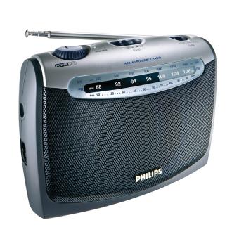 Philips AE2160/00C FM/MW Portable Radio (Silver)
