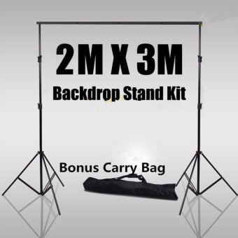 Photography Backdrop Muslin Background Support System 2 Stands + 1Cross Bar Kit - intl