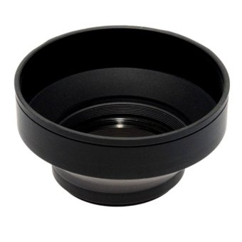 Phottix 3 Stage Collapsible 77mm Rubber Lens Hood