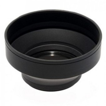 Phottix 3 Stage Collapsible Rubber Lens Hood 55mm