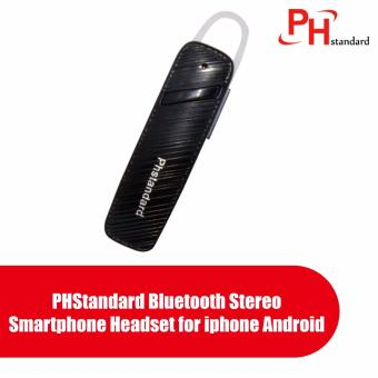 PHStandard Bluetooth Stereo Smartphone Headset for iphone Android (Black)