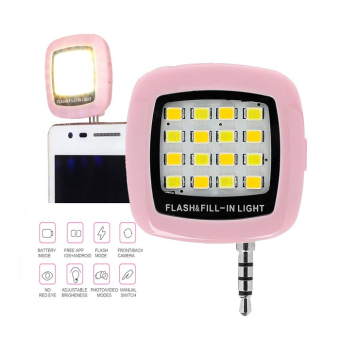 Pink Selfie LED speed lite for all smartphones - picture 2