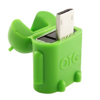 PNY ROBOT OTG Adapter Micro USB to USB (Green) - 3