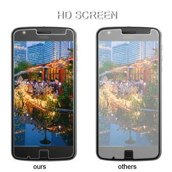 PopSky Clear Tempered Glass Premium 9H Film Screen Protector for Motorola Moto Z Play - 5