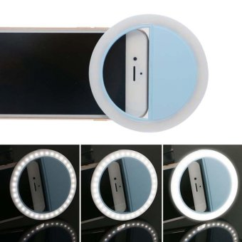 Portable Fill-in Flash LED Selfie Ring Light for Smartphone (Blue)