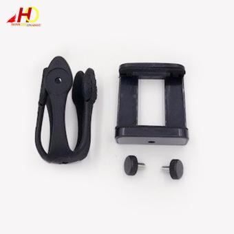Portable Flexible Mount Gekko Tripod with Phone Holder forSmartphones (Black) - 3