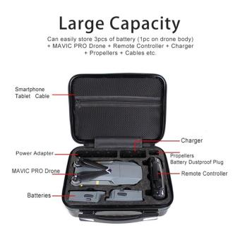 Portable Hardshell Handbag Storage Bag Box Protective carrying Suitcase for DJI MAVIC Pro - 2