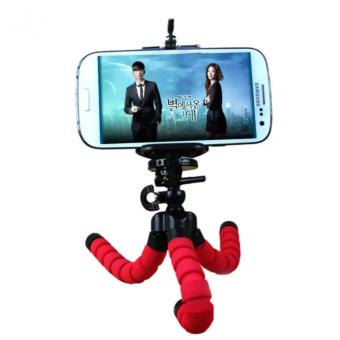 Portable Phone Holder Digital Camera 15CM Flexible Tripods OctopusStand for Camera/Smartphone (Red) - 4