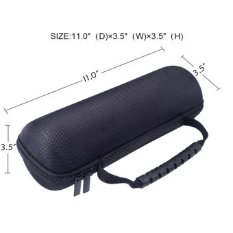 Portable Travel Carry Storage hard Case Bag Holder Zipper Pouch forJBL FLIP 4 Bluetooth Speaker - intl - 4