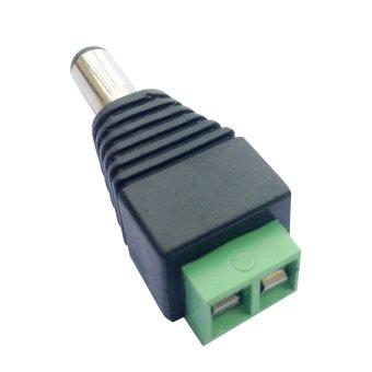 Posdou 10 x Male 2.1x5.5mm DC Power Cable Jack Adapter ConnectorPlug Led Strip CCTV Camera Use 12V - intl - 5