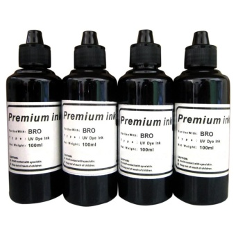 Premium Dye Ink for Brother Set of 4 (Black)