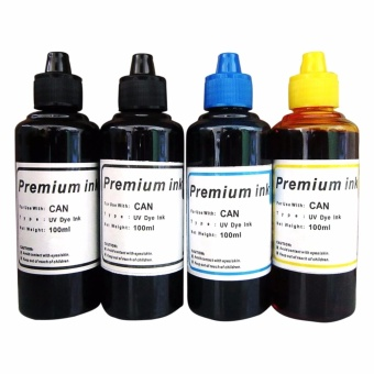 Premium Dye Ink for Canon Set of 4 (Black/Cyan/Yellow)