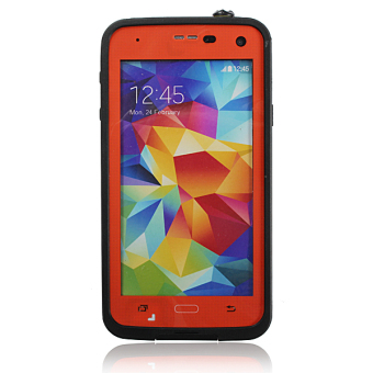 Premium Waterproof Shockproof Dirt Proof Case Cover for Samsung Galaxy S5 Orange - 3