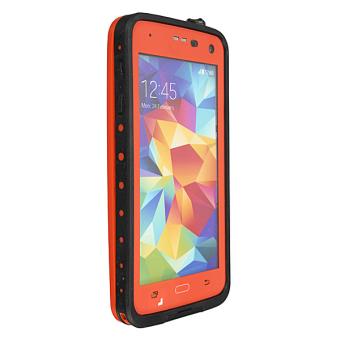 Premium Waterproof Shockproof Dirt Proof Case Cover for Samsung Galaxy S5 Orange - 2