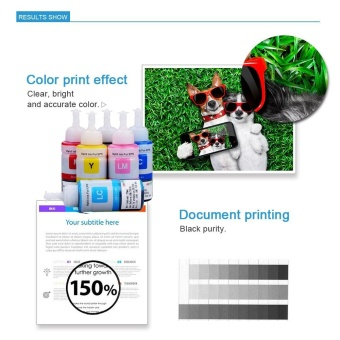 Printer Refill ink compatible for Epson L800 L805 L810 L850 L1800 Ink Tank Printer C/M/Y/BK/LM/LC (6 Color) - intl - 2