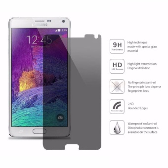 Privacy Anti-Spy Ultra-Thin 9H Tempered Glass Screen Protector forSamsung Galaxy Note4(Black) - intl - 3
