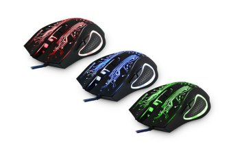 Professional Backlit LOL / CS Gaming Mouse USB Mouse Mice Black - 3