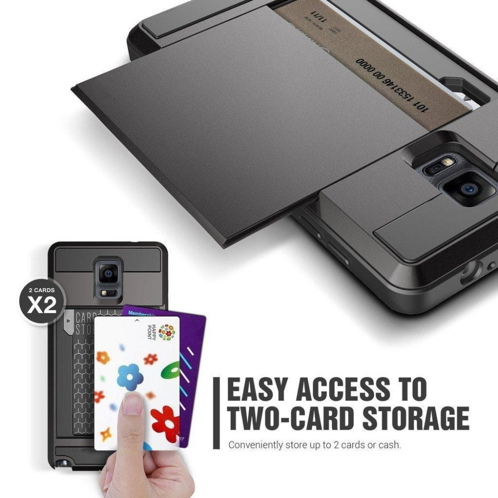 ... Protective Shell Galaxy Note 3 Wallet Case Card Pocket Shockproof Dual Layer Hybrid Rubber Bumper Case ...