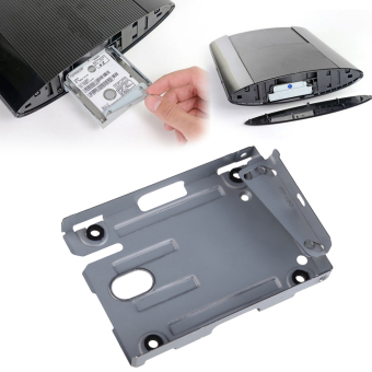 PS3 Super Slim Hard Disk Drive HDD Mounting Bracket Caddy For Sony+ Screws - intl - 2