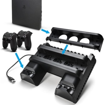 PS4 PRO PS4 SLIM Multi-Function Charging stand with cooling fan & Disc Stand   - intl - 3