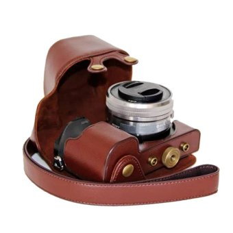 sony ilce 6000. pu leather camera case for sony ilce-6000l ilce-6000 a6000 (coffee) ilce 6000