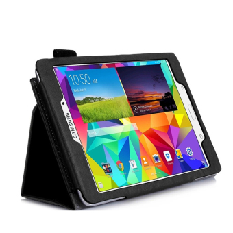 PU Leather Flip Cover for Samsung Galaxy Tab A P350/P355 8-inch(Black) - intl