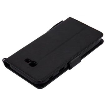 PU Leather Wallet Phone Cases For Samsung Galaxy A7 2017 EmbossingCover For Galaxy A720 Flip Wallet Bags (Black) - intl - 5
