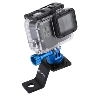 PULUZ Aluminum Alloy Motorcycle Fixed Holder Mount with Tripod Adapter and Screw for GoPro HERO5 Session /5 /4 Session /4 /3+ /3 /2 /1, Other Sport Cameras(Blue) - intl
