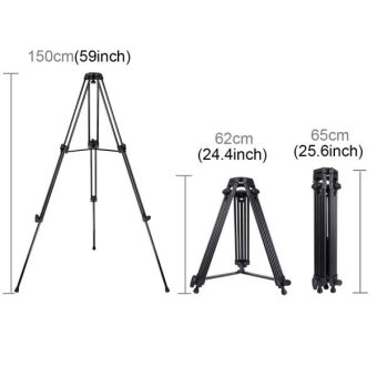 PULUZ Professional Heavy Duty Video Camcorder Aluminum Alloy Tripod For DSLR / SLR Camera, Adjustable Height: 62-160cm - intl - 5