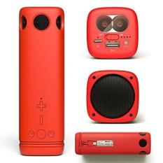 speakers for tv. puridea i2 red portable bluetooth speaker with 24-hour playtime- 66-foot range \u0026 built-in mic- 3 in 1 multi outdoor wireless 8000mah speakers for tv