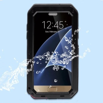 PURISS Gorilla Tempered Glass Waterproof Metal Armor Case Cover ForSamsung Galaxy S7 Edge - intl - 4