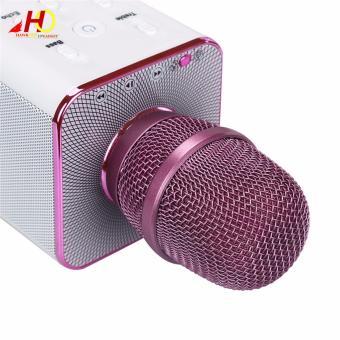Q7 Wireless Bluetooth Microphone & HiFi Speaker Karaoke KTV (Pink) - 3