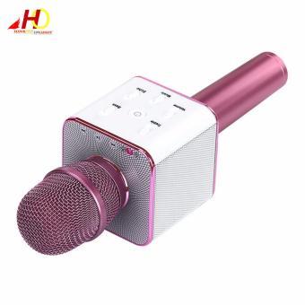 Q7 Wireless Bluetooth Microphone & HiFi Speaker Karaoke KTV (Pink) - 2