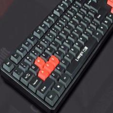 QF LIMIE 1300 Fashion Wired Keybord Backlit 104 Keys (Black)