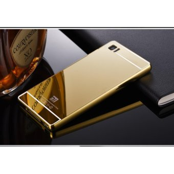 Quality Aluminum Metal Frame Plating Mirror case for Xiaomi Mi3(gold) - intl