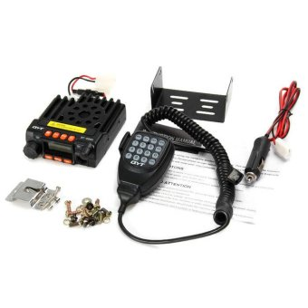 QYT KT8900 Mini Mobile Radio Vehicle Mounted Dual Band UHF VHFTransceiver (Black) - 2
