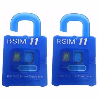 R-SIM RS-11 11 The Best Unlock and Activation SIM for iPhone4S/5/5C/5S/6/6Plus/7/7Plus (Blue) Set of 2 Price Philippines