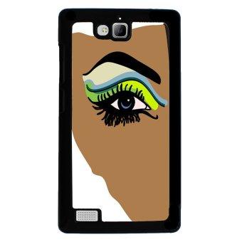 Rainbow Eye Pattern Phone Case for Huawei Honor 3C (Black)