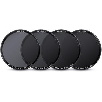 Rangers 67mm ND2 4 8 16 Filter Set Neutral Density + Cleaning Pen for Nikon RA20 - 5