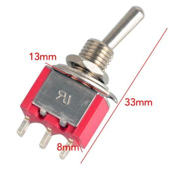 Red 3-pin MTS-102 SPDT Miniature Toggle Switches ON/ON WaterproofCap - intl - 3