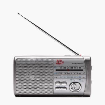 Red Alert Rechargeable Radio (Grey)
