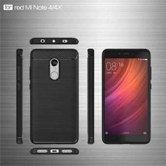 Redmi Note4 4x Case, Ultra-thin Brushed Carbon Fiber Slim ArmorSoft TPU Phone Back Full Cover Case For Xiaomi Redmi Note 4 / Note4X - intl - 3