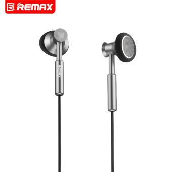 Remax 3.5mm Metal Earphone Headphone Headset Stereo Bass In-EarHeadphones Earphones With Micphone For Mobile Phone MP3 PC - intl - 2
