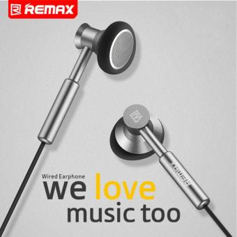 Remax 3.5mm Metal Earphone Headphone Headset Stereo Bass In-EarHeadphones Earphones With Micphone For Mobile Phone MP3 PC - intl - 3