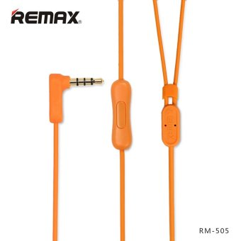 REMAX RM-505 In-Ear Stereo HiFi Music Earphone Headphones PortableHeadset with mic (Orange) - 2
