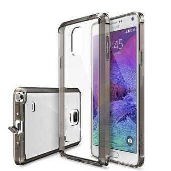 Ringke Fusion PC And TPU Back Cover Case For Samsung Galaxy Note 4(Smoke Black) - intl