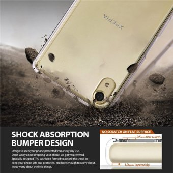 Ringke Fusion PC And TPU Back Cover Case For Sony Xperia X (SmokeBlack) - intl - 4